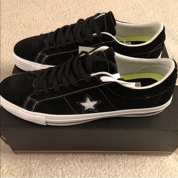 0ae2bbcfe25598 CONVERSE Men s One Star Skate OX Black White Black
